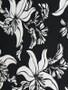 Black & White tropical flower Lycra