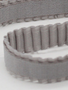 Grey pleated elastic