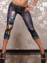 Black decorative capri Leggings