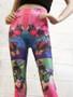 Bright Butterfly Print Seamless Leggings