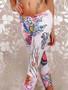 Fashion short capri style decorative leggings