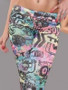 Multicoloured Retro Graffiti Leggings