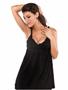 Black Ruffle cotton spandex Beach Dress
