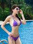 Purple Diamonte Halter bikini