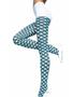 Fancy Double line Argyle Sheer Pantyhose Black & White Music Legs 7050