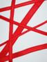 Red bra strap elastic