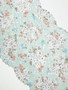 Vintage Bloom Eggshell Blue Stretch Lace