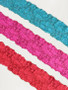 Narrow Floral Stretch Laces