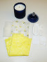 yellow bra kit and candle gift pack