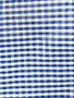 Blue and White Gingham Polyester Fabric