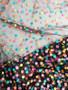 Black confetti mesh for bra making