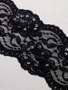 Black Beaded 6cm Stretch Lace