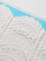 blue and ivory stretch lace for bra making