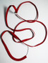 Ruby Red bra wire casing sold by the metre