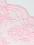 Coral Pink Floral 20.5cm Stretch Lace
