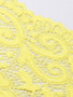 bright yellow stretch bra scallop edge lace