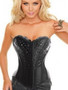 Black Diamonte Corset with Hook and eye closure