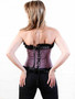 Pink and Black Chequered Corset