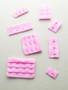 Pink plush back bra tabs
