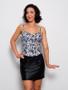 Mini skirt in Black satin elastane