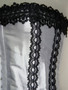 Outerwear Corset white satin with black lace