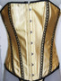 Yellow Satin Corset with lace detail