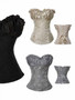 Stunning Gold, Black or Silver Romance Strapless Corset