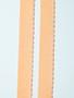 Plush back facing scallop elastic in peach