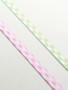 Pink & White and Green & White Gingham Fold Over Elastic