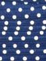 Navy Polka dot Fold Over Elastic