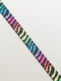Rainbow Zebra Fold Over Elastic