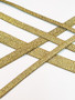 Metallic gold bra strap elastic sold by the metre