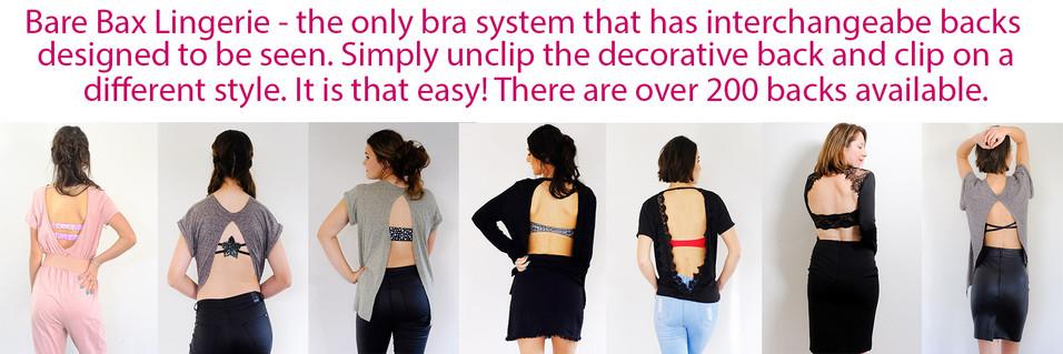 Bare Bax Lingerie - Bras for backless tops and dresses
