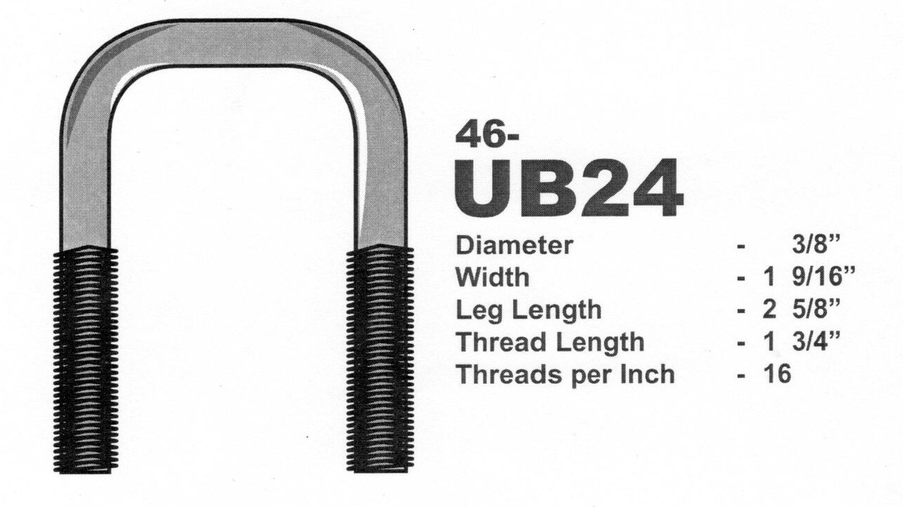 Stainless Steel 3 8 U Bolts 1 9 16 X 2 5 Square