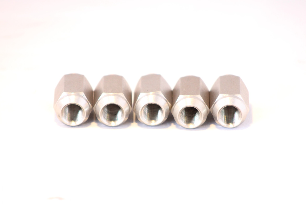 STAINLESS STEEL TRAILER LUG NUTS 1/2X20 THREAD ACORN STYLE