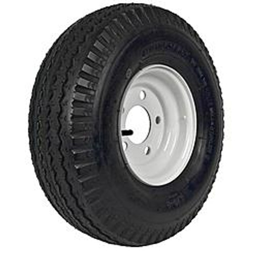 Loadstar Tire 5.70-8 White Rim 5 on 4-1/2 Load C 910lb
