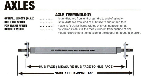 "22-AXC9VGH Axles with Galvanized Hub Assemblies (90"")"