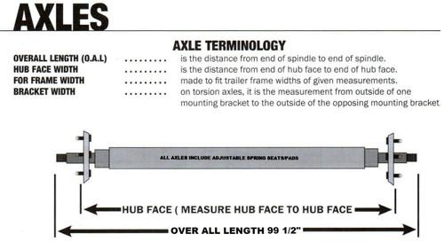 """22-AXT80-0 Torsion Axles - Galvanized Vee (99 1/2"""")"""