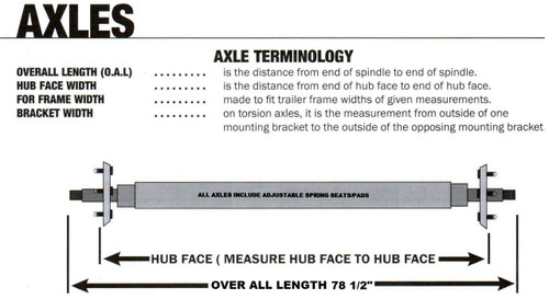 "22-AXT54* Torsion Axles - Straight Galvanized (78 1/2"")"