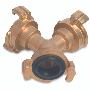 Quick Connection Brass 3 Way Coupler