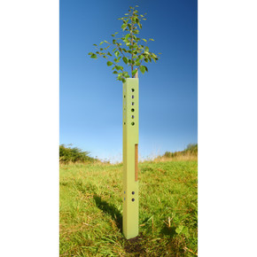 146cm Biodegradable Earthboard Tree Shelter Guard and Support Stake Tree Planting Package