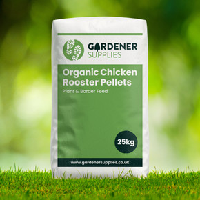 Organic Chicken Rooster Pellets Plant & Border Feed 25kg