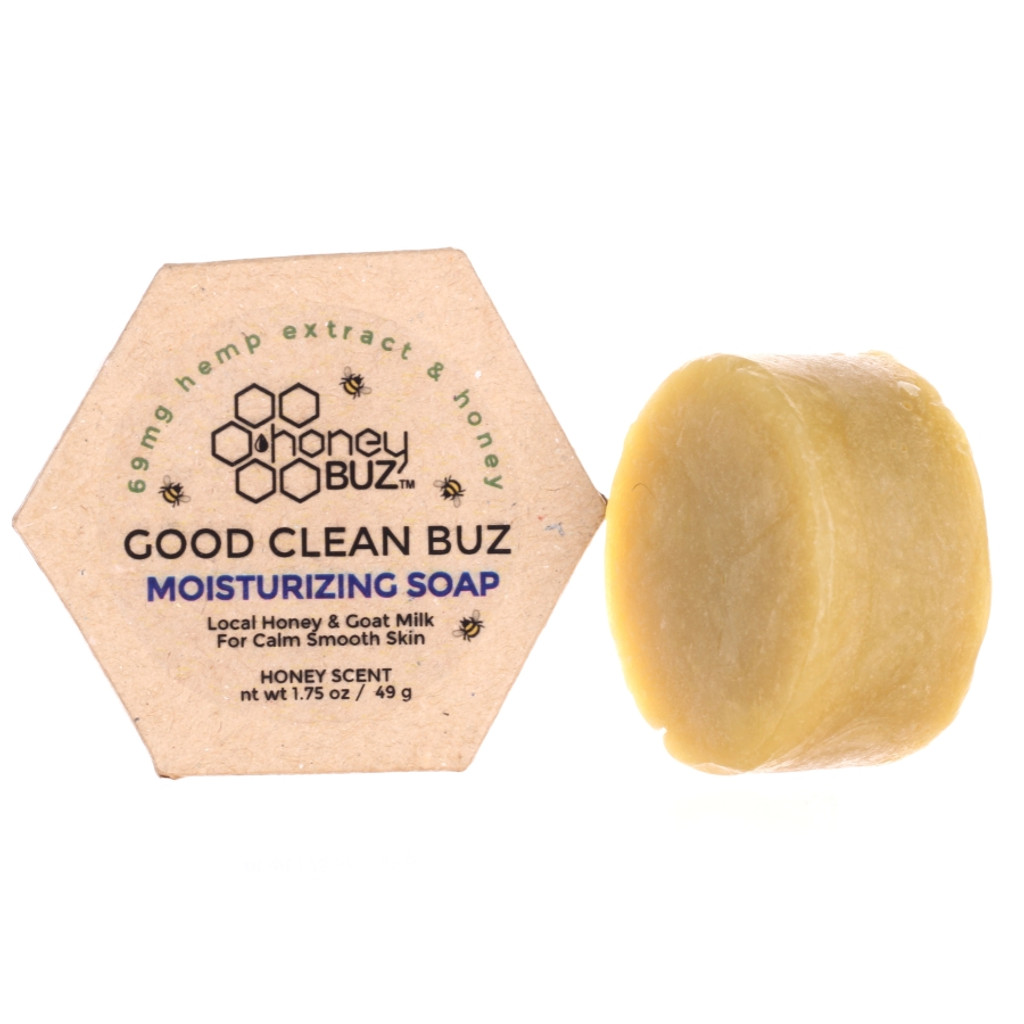 Honey Buz Good Clean Buz Moisturizing Soap with CBD Honey & Goat Milk