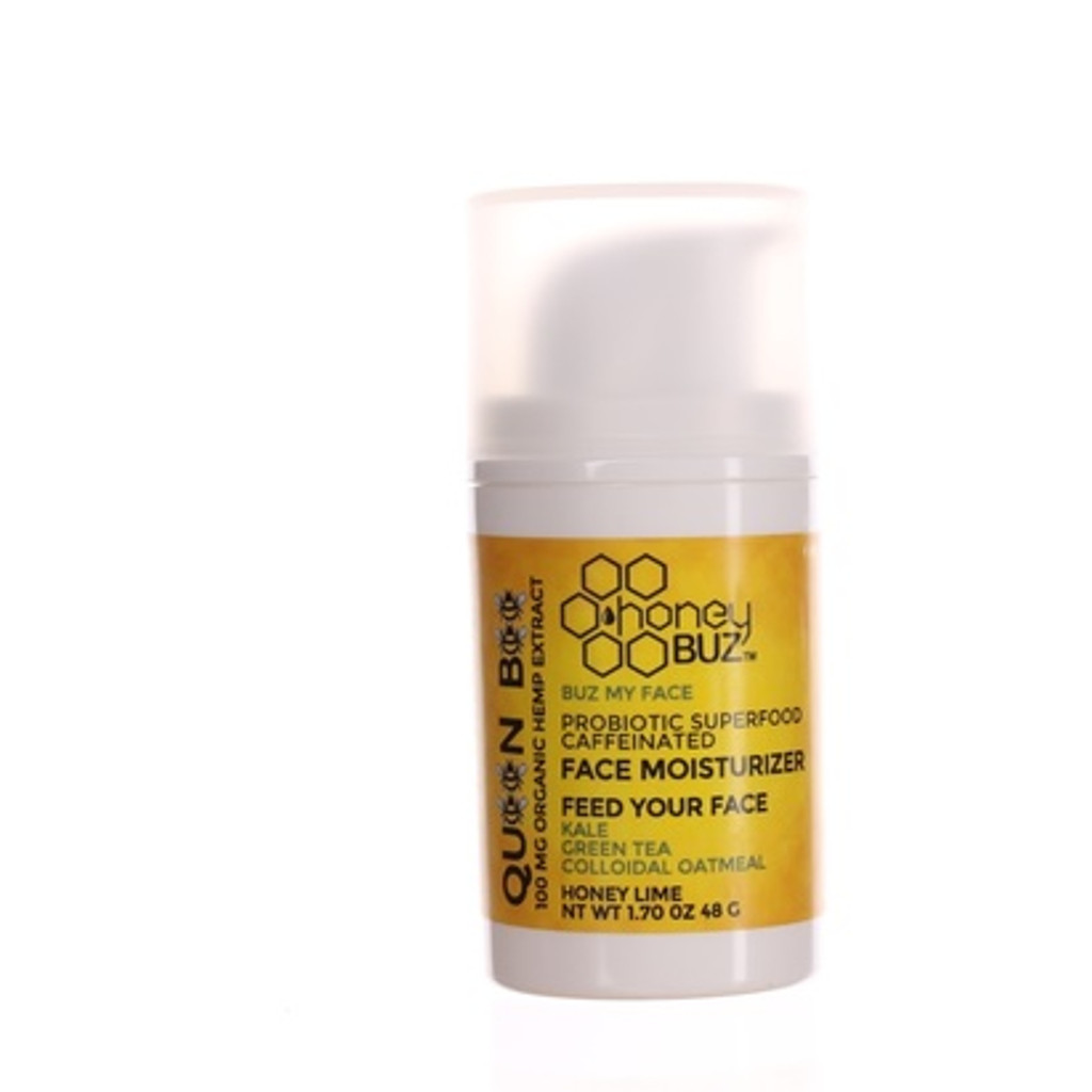 Queen Bee -organic hemp extract with caffeine, kale, carrot, colloidal oatmeal, green tea, apple cider vinegar, lactobacillus and kokum butter. Chemical free preservative free natural hemp and antioxidants