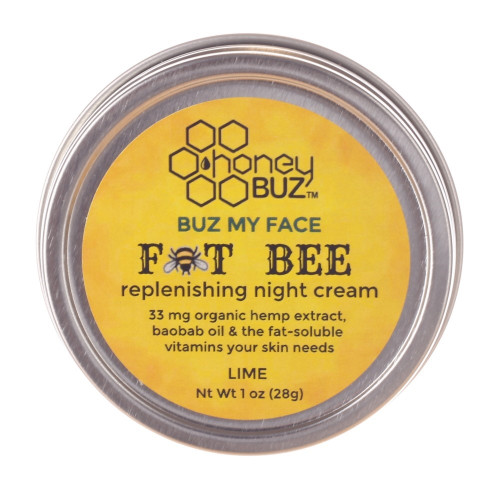 Fat Bee Overnight moisture-vitamin rich all natural  beauty cream like no other - hemp, mango, baobab, Honey Buz -elderberry  sunflower -local- organic- skin care