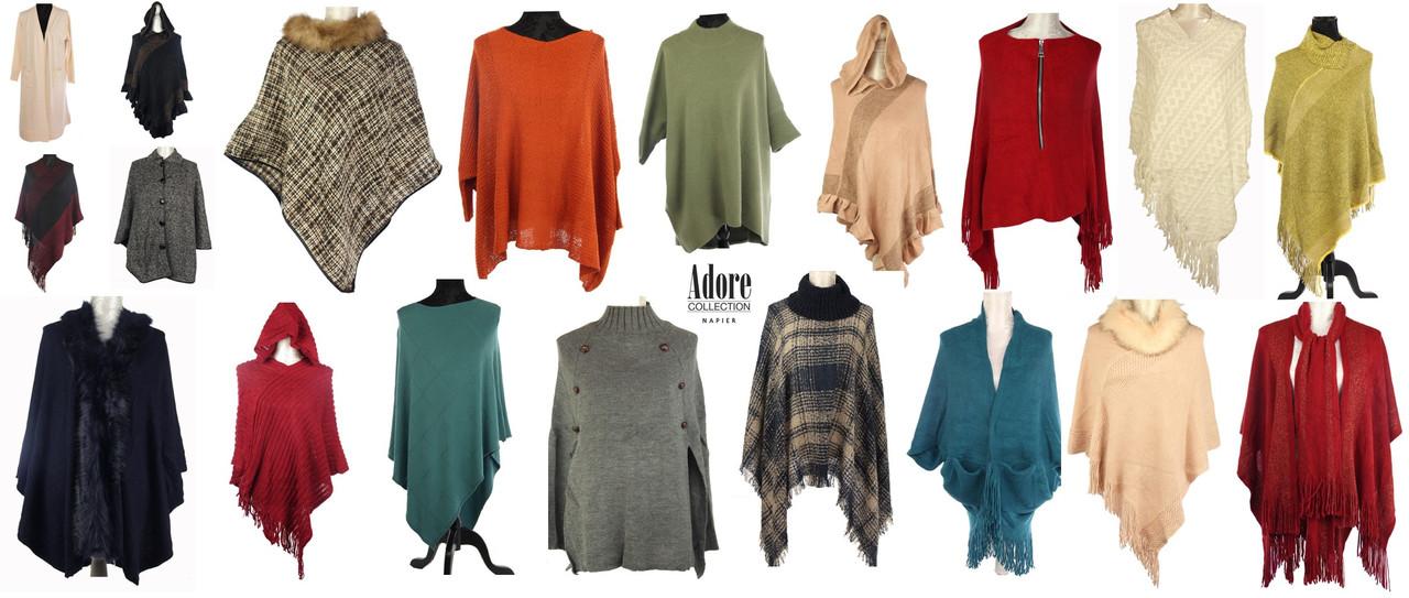 Winter poncho, cape, shrug