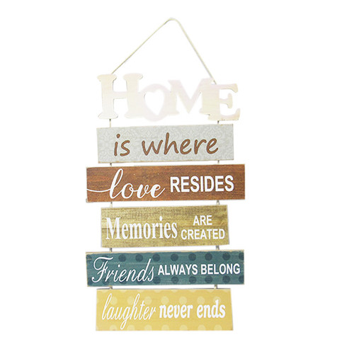 Home is where love resides ... hanging sign