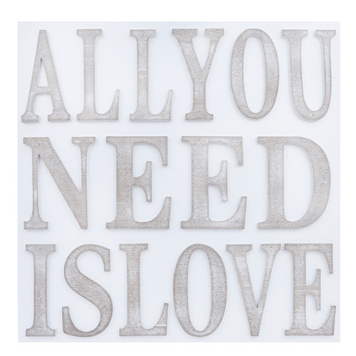 White wall plaque - All you need is love