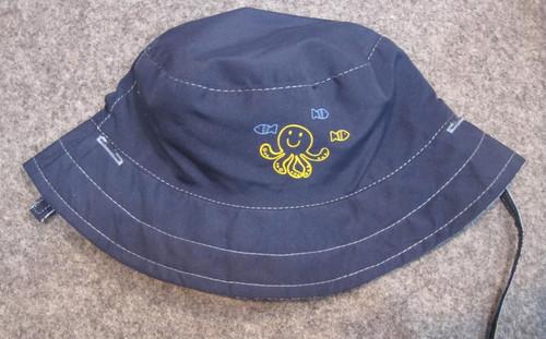 Blue octopus bucket hat - 52cm