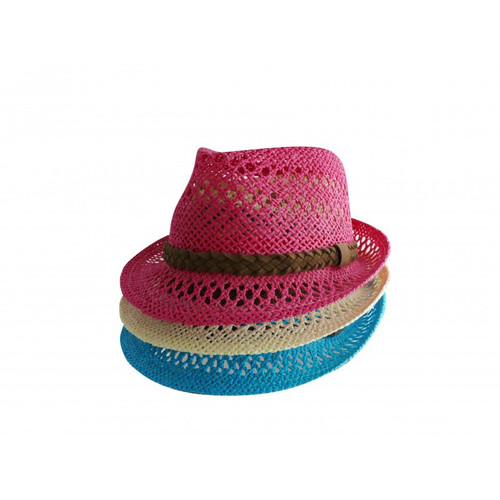Twisted paper Fedora Hat (various colours)